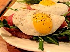 24-month prosciutto di parma, quail egg
