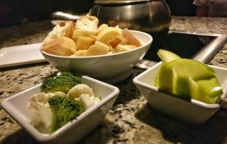 Complimentary Bread, veggies, fruit
