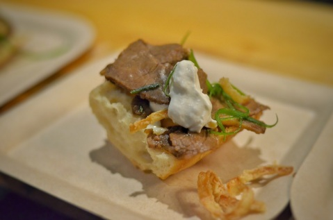 Rosemary Salt crust 24hr roast, caramelized spanish onion jus, horseradish creme by Royal Glenora Club